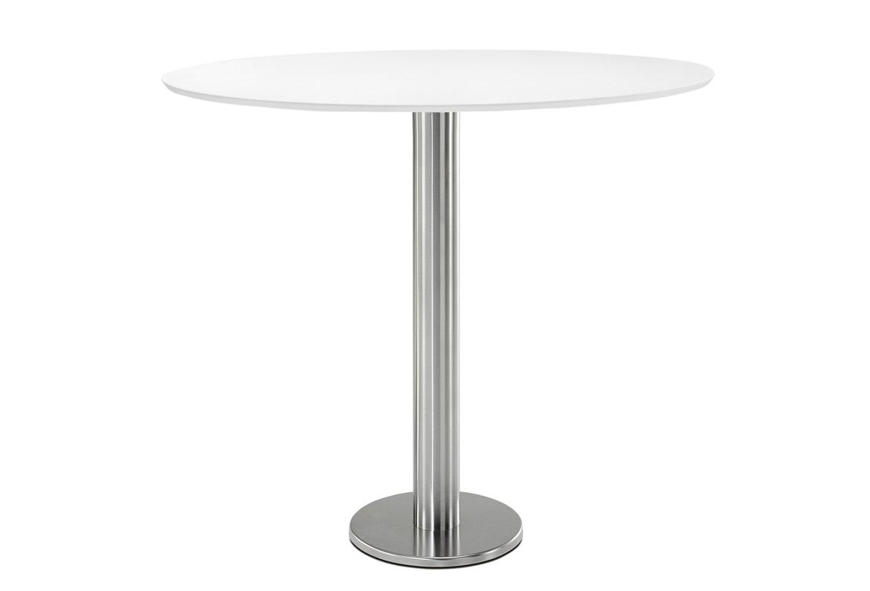 Podstawa do stołu montowana do podłoża ze stali szczotkowanej