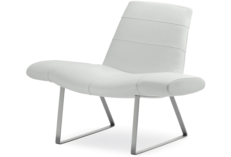 Fotel designerski skórzany Mies Pedrali
