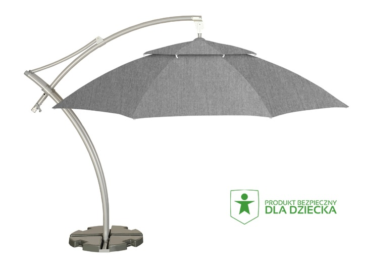 szary parasol do ogrodu litex ibiza
