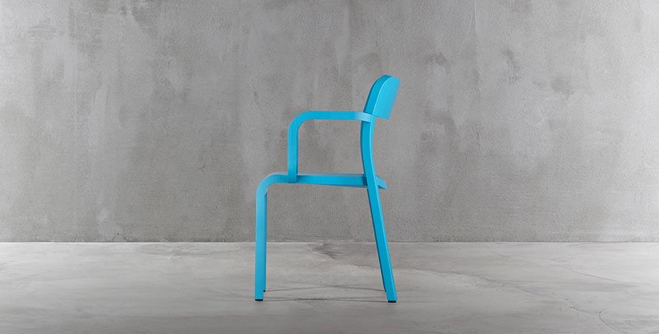 niebieski krzesło drewniane blocco plank