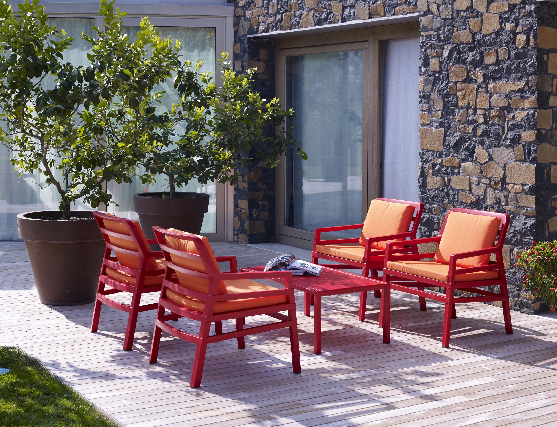 Stolik ogrodowy Aria 100 brązowy