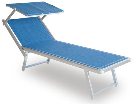 Aluminiowy leżak basenowy SMECA
