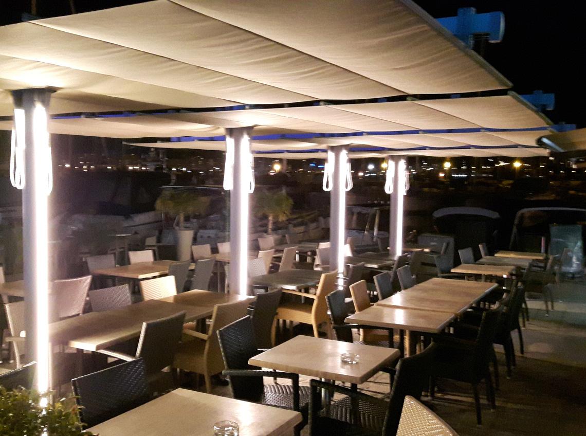 Parasol modułowy Flexy TWIN hotelowy, restauracyjny