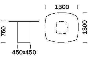 rozmiar stołu Aero Pedrali