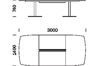 wymiary stołu PLANO