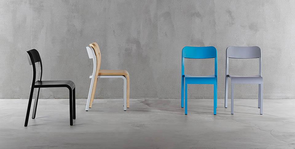 Krzesła Plank Blocco nowoczesne drewniane