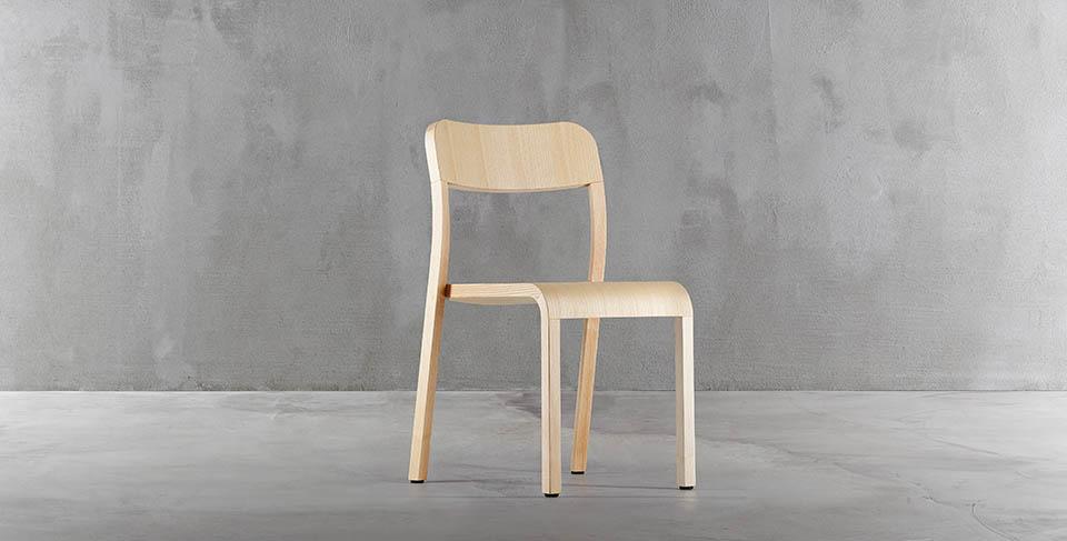 Krzesło drewniane blocco plank