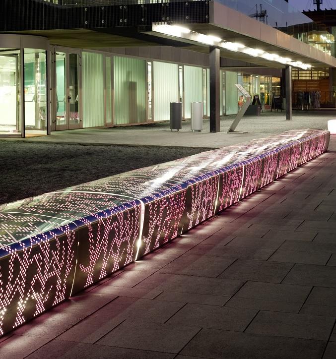 ławka aluminiowa publiczna BERTA VILAGRASA