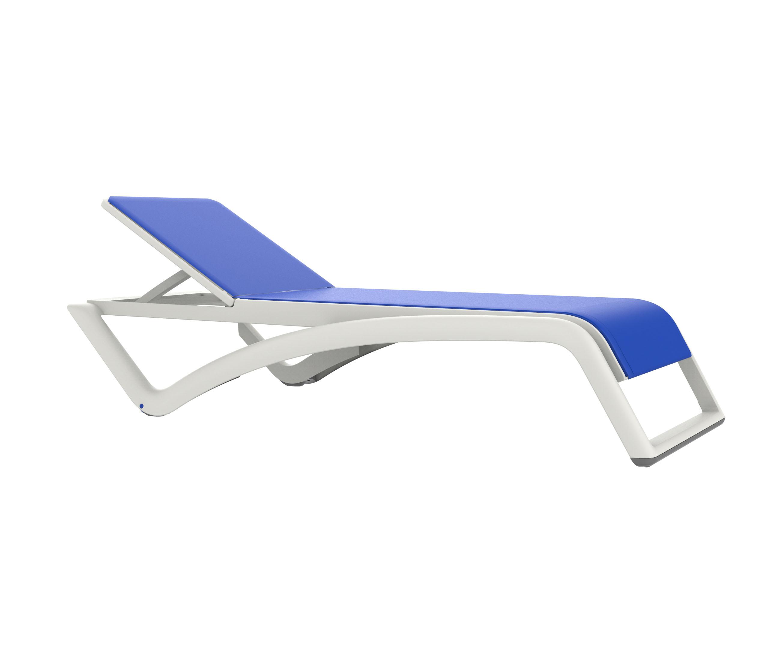 leżak basenowy SKY RESOL biało niebieski