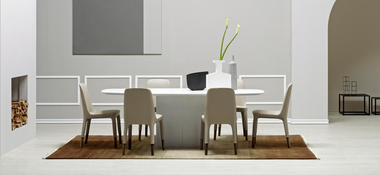 Włoski biały stół do salonu Aero Pedrali
