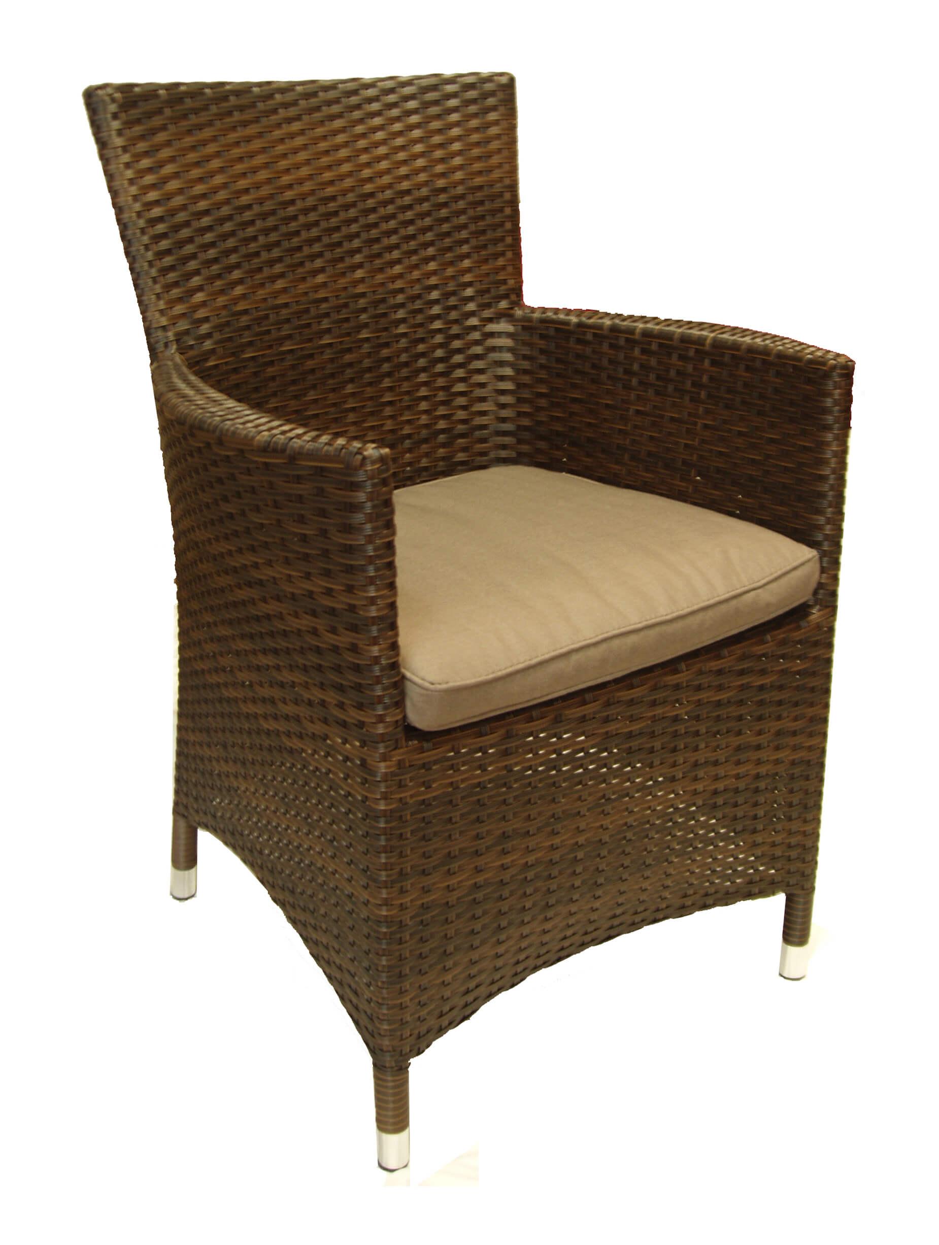 Fotel z technorattanu FLIK brązowy