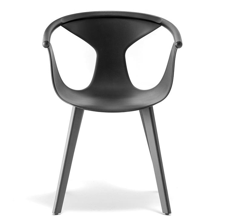 Czarne krzesło drewniane FOX