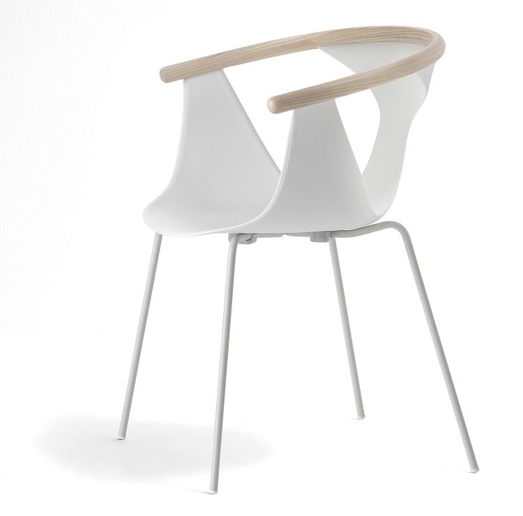 Krzesło FOX kubełkowe na nogach metalowych PEDRALI