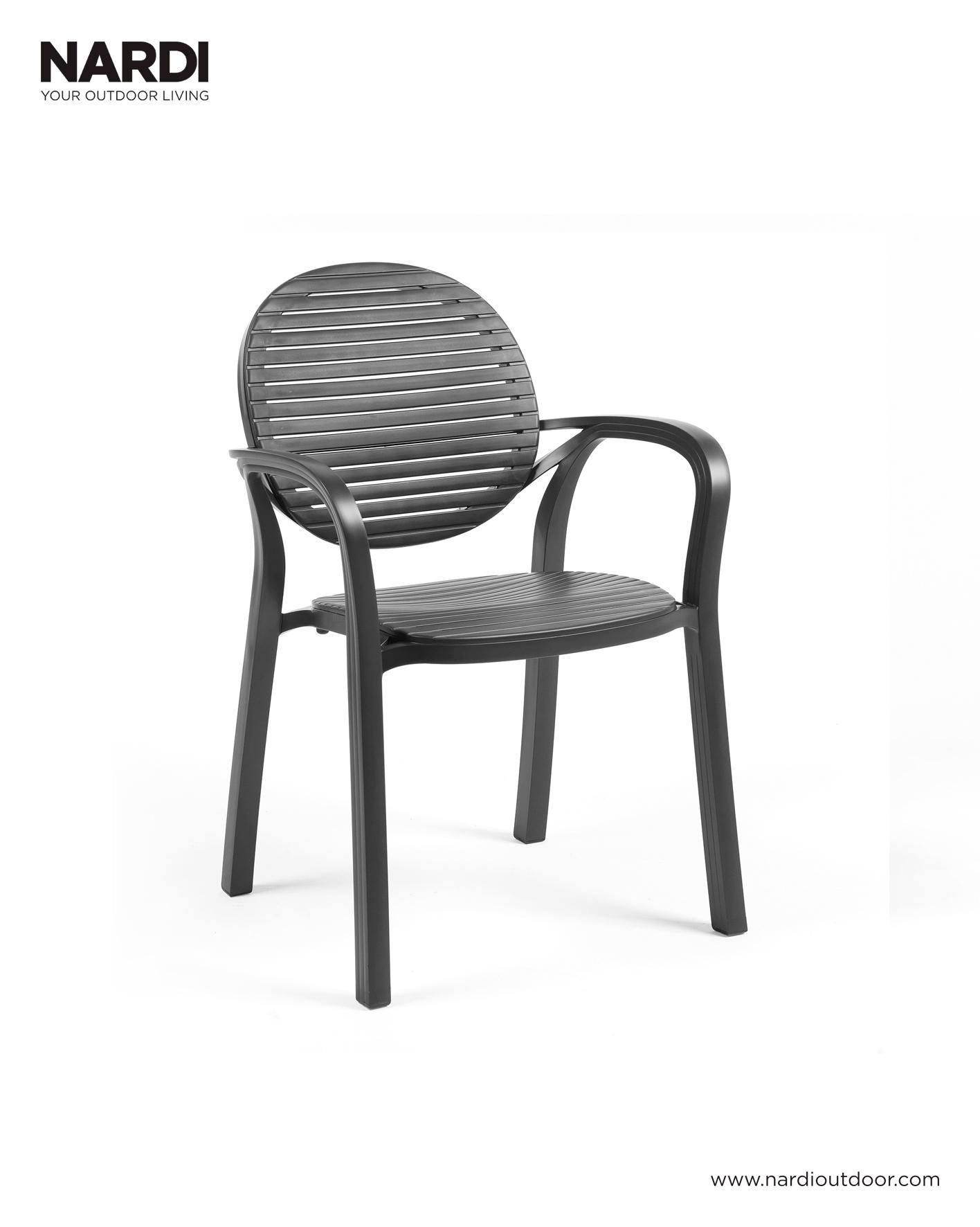 Krzesło ogrodowe GARDENIA antracytowe NARDi