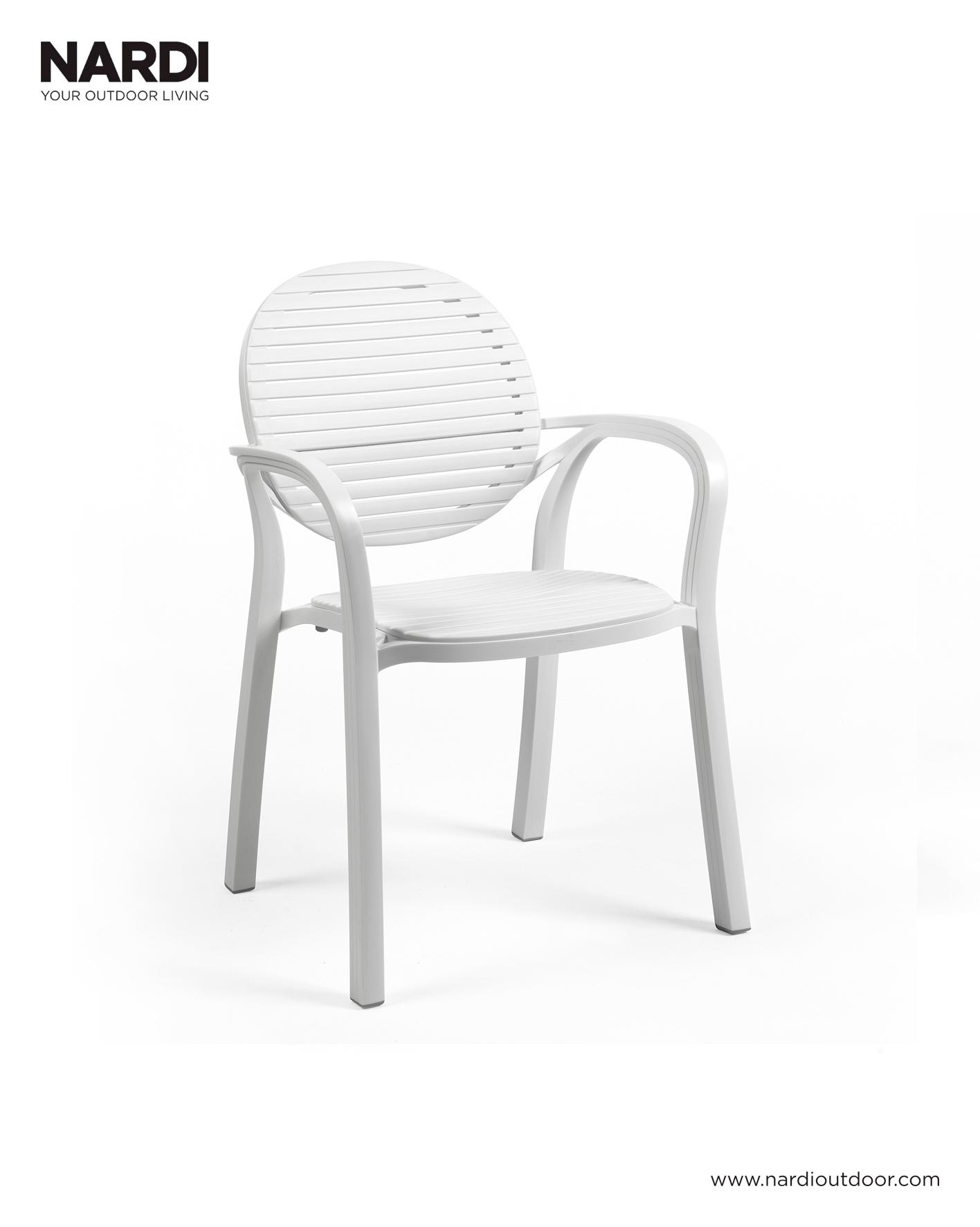 Krzesło ogrodowe GARDENIA NARDI białe