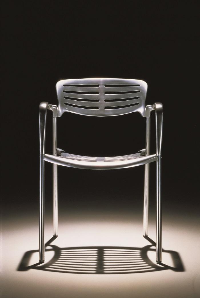 krzesło z aluminium Toledo Resol polerowane