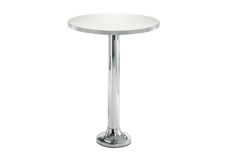 Podstawa do stołu montowana do ziemi chromowana