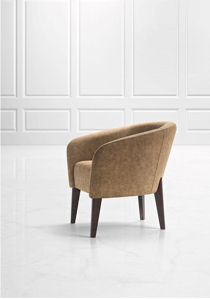 Ekskluzywny fotel tapicerowany Kyk