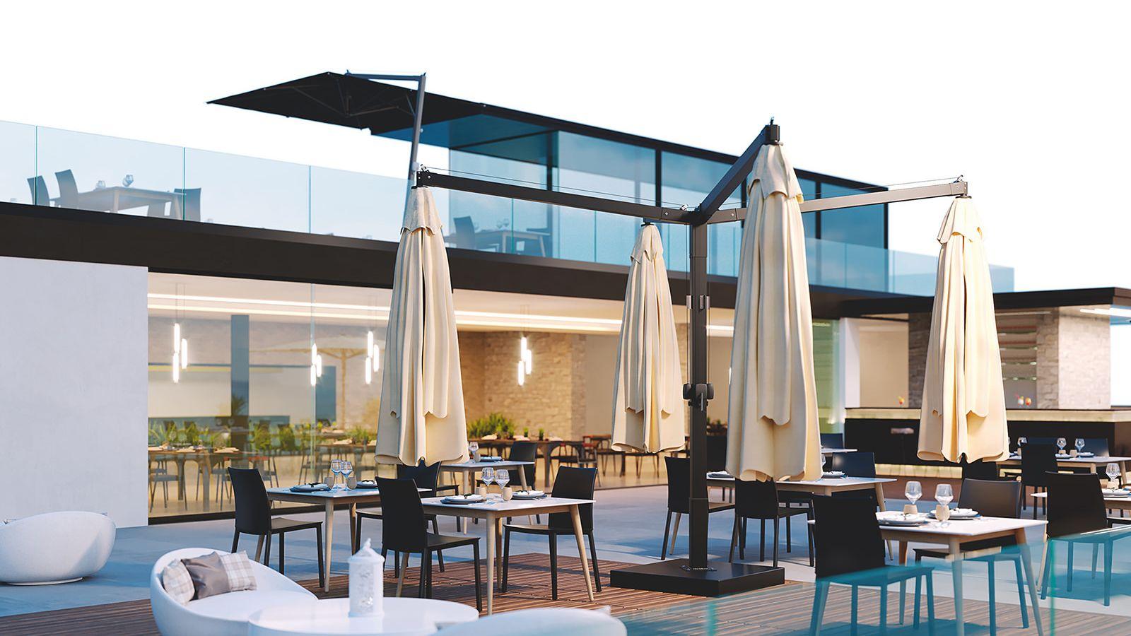 Parasol ogrodowy do restauracji GALILEO Ombrellificio