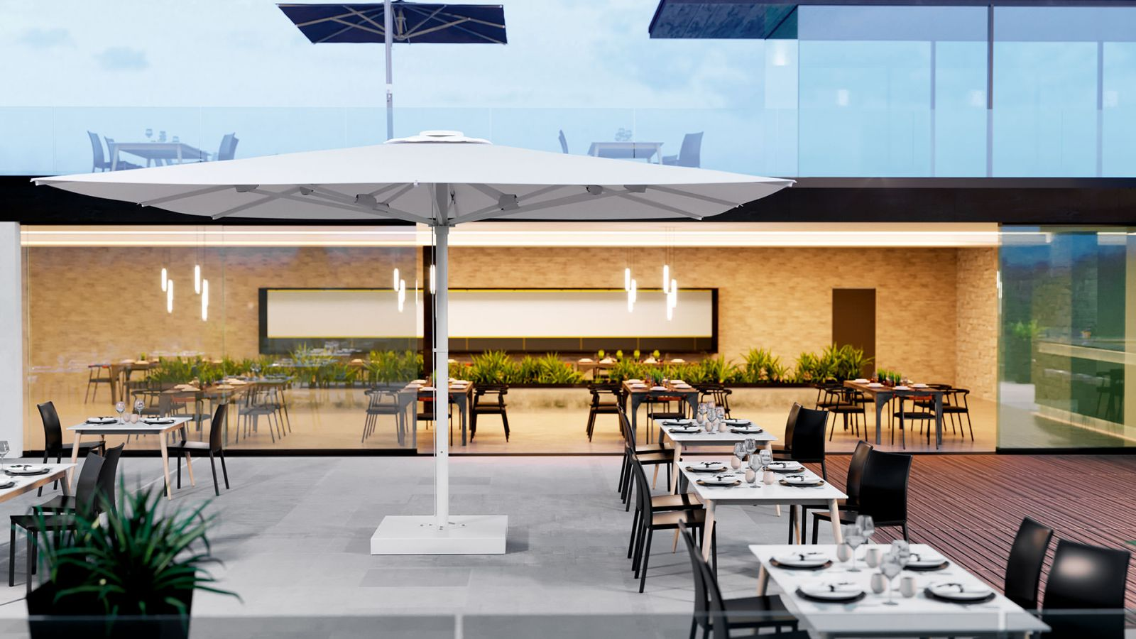 Parasol ogrodowy do restauracji i hoteli LEONARDO duży