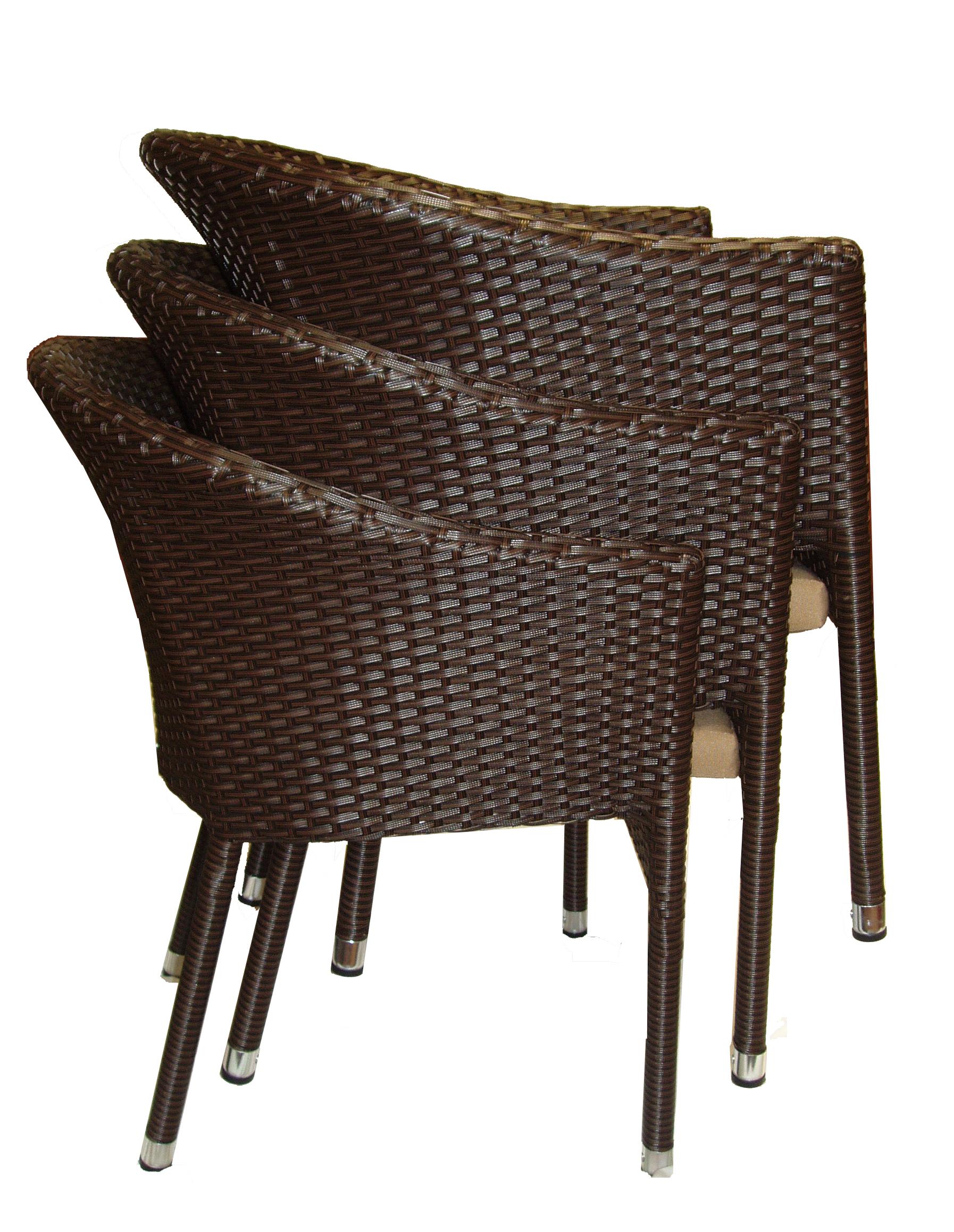 Krzesło ogrodowe Lama z technorattanu do sztaplowania