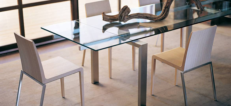 Stół na ramie ze stali nierdzewnej do salonu MAGIC PEDRALI