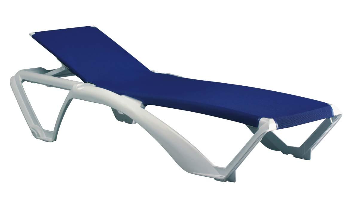 leżak basenowy Marina Resol biało-niebieski
