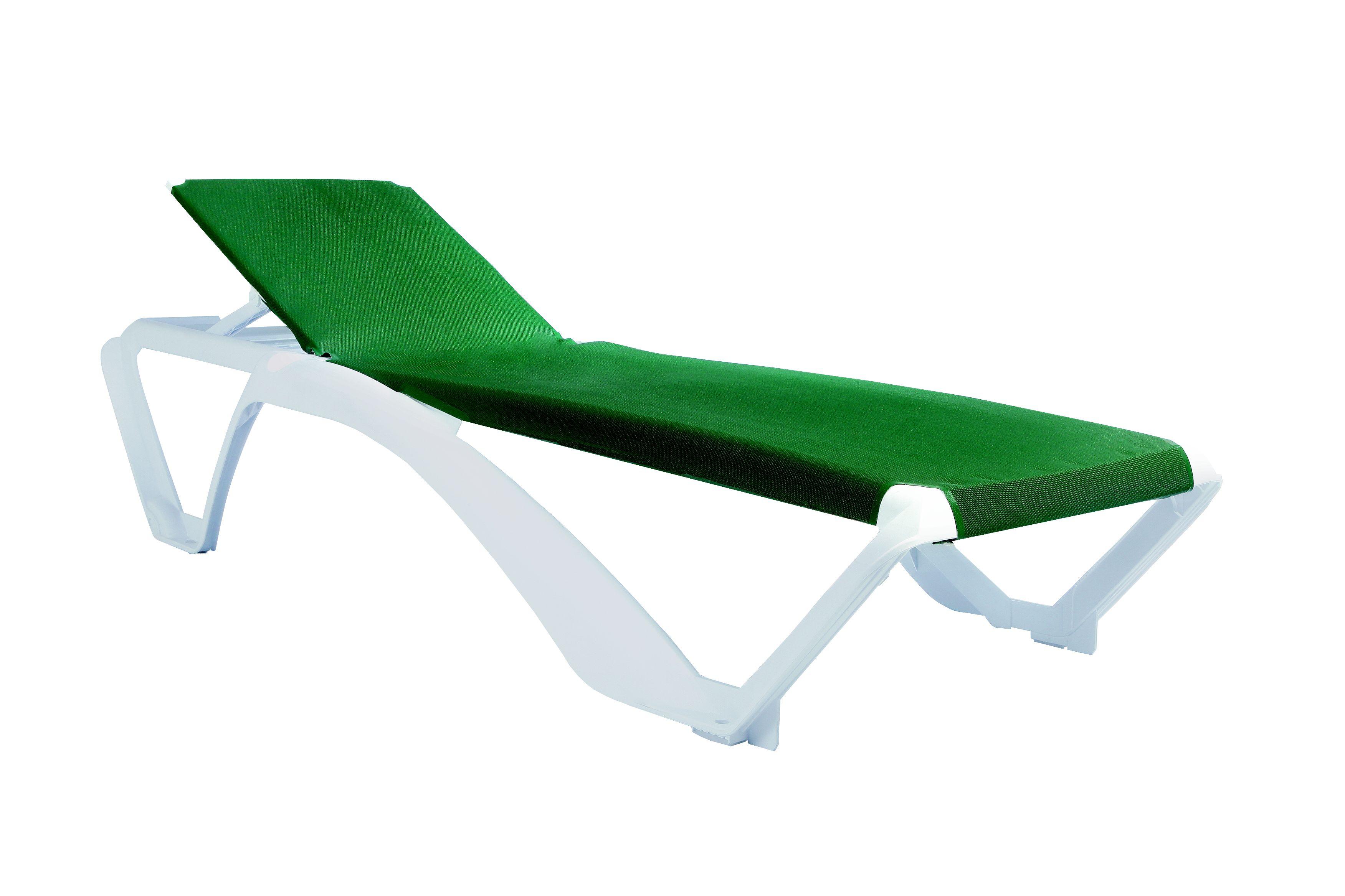 Leżak basenowy Marina Resol biało-zielony