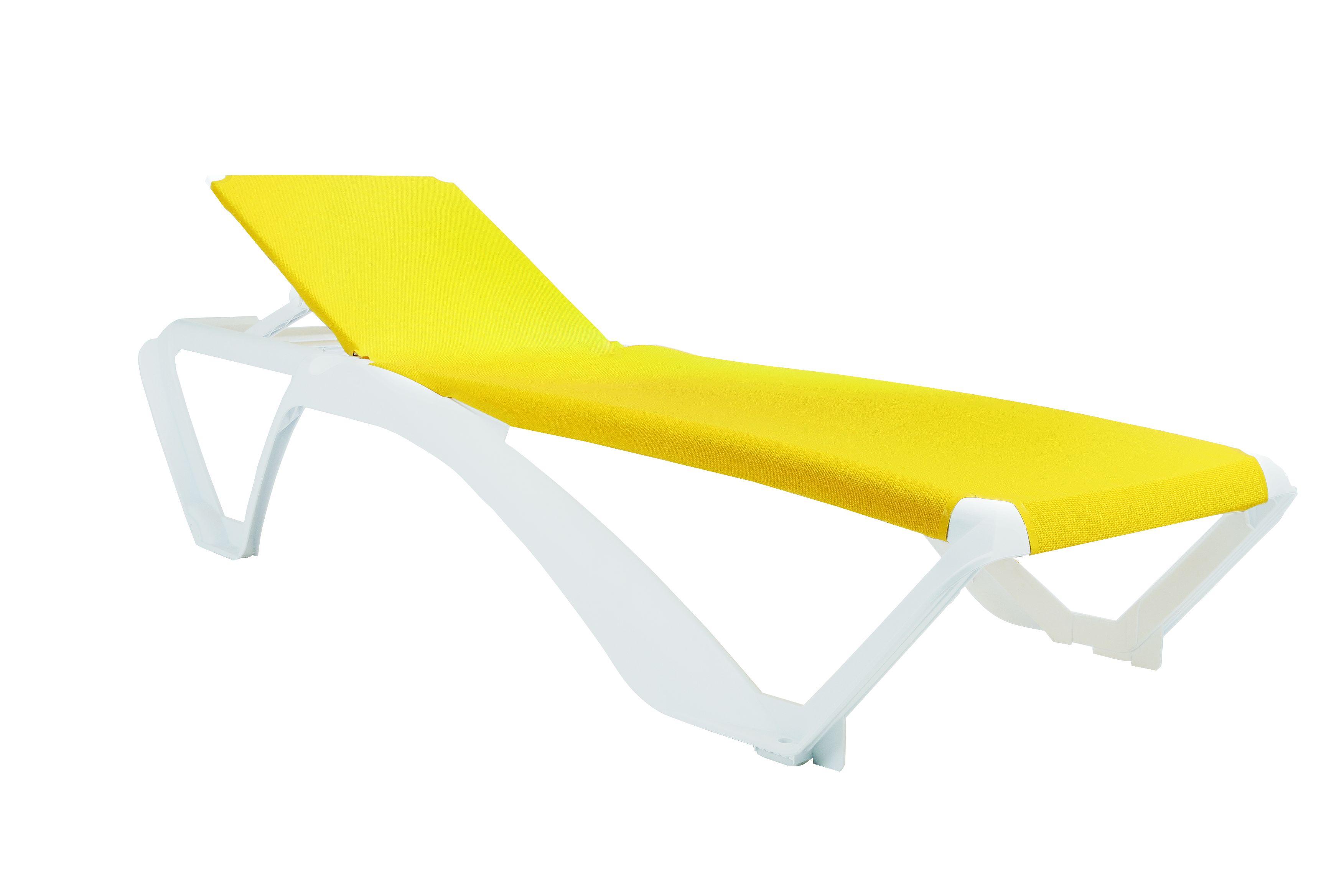 leżak na basen Marina Resol biało żółty
