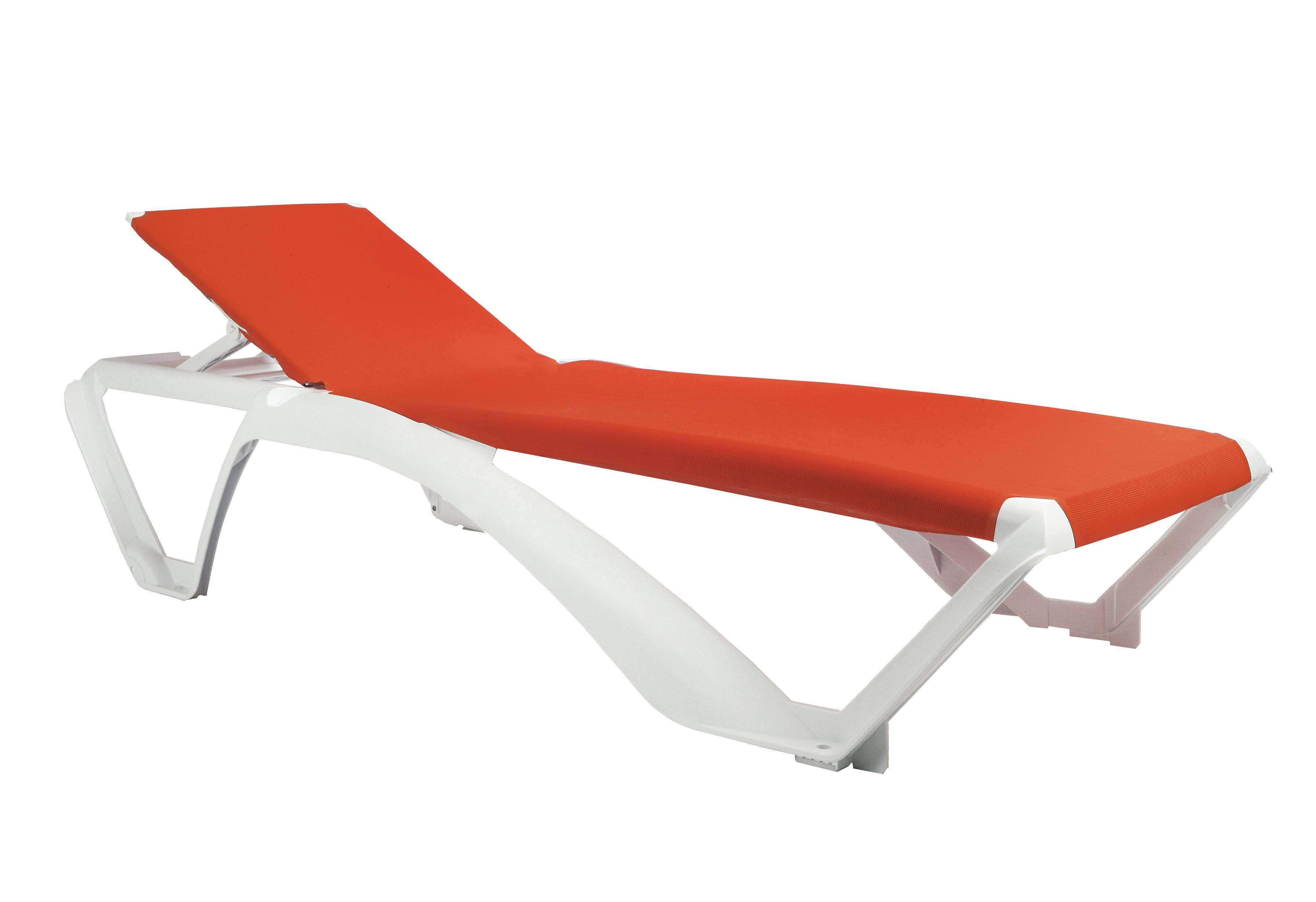 Leżak Marina tkanina Textilene pomarańczowa orange
