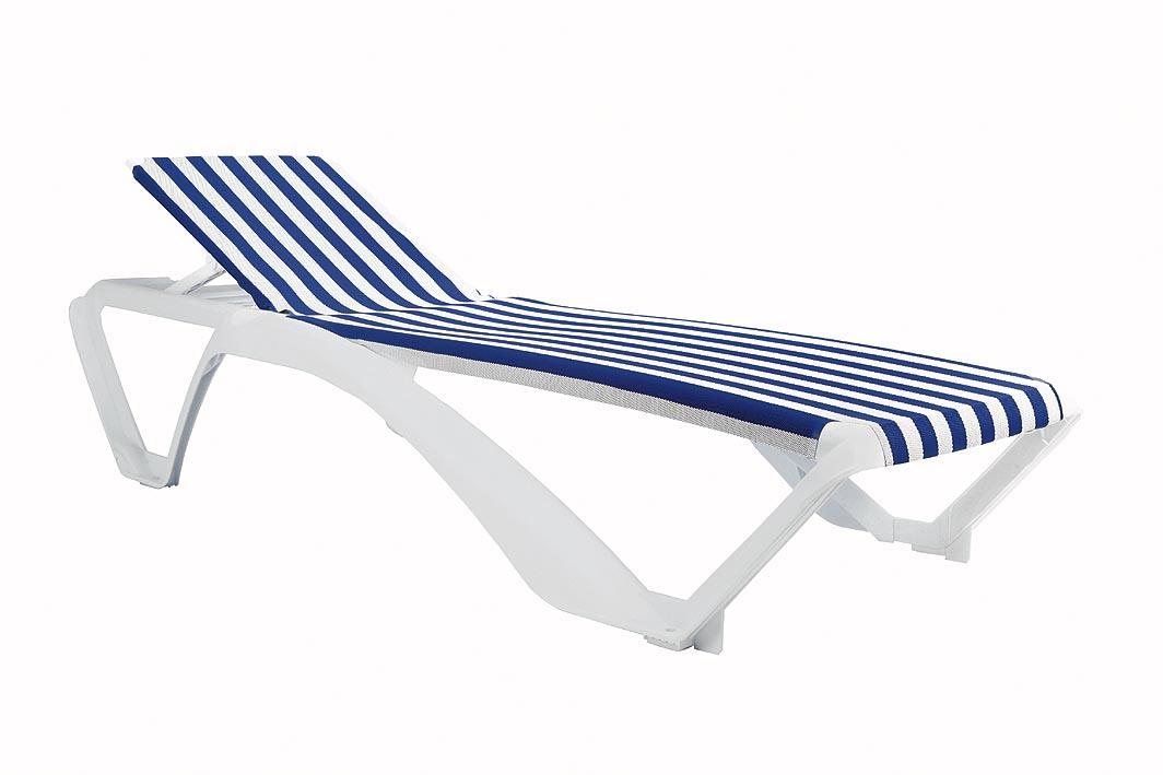 Leżak Marina Resol biało niebieskie paski