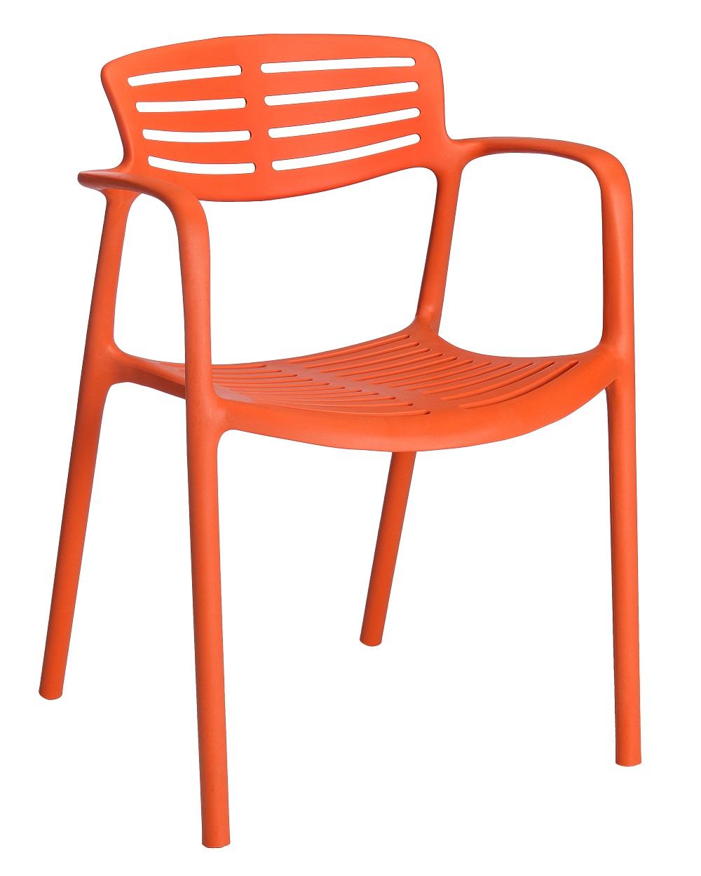 Krzesło pomarańczowe do kawiarni TOLEDO Aire Resol