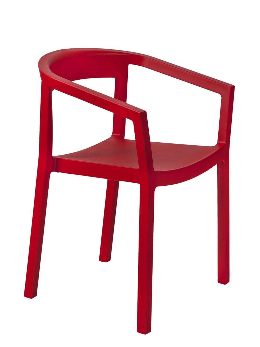 krzesło peach czerwone Resol