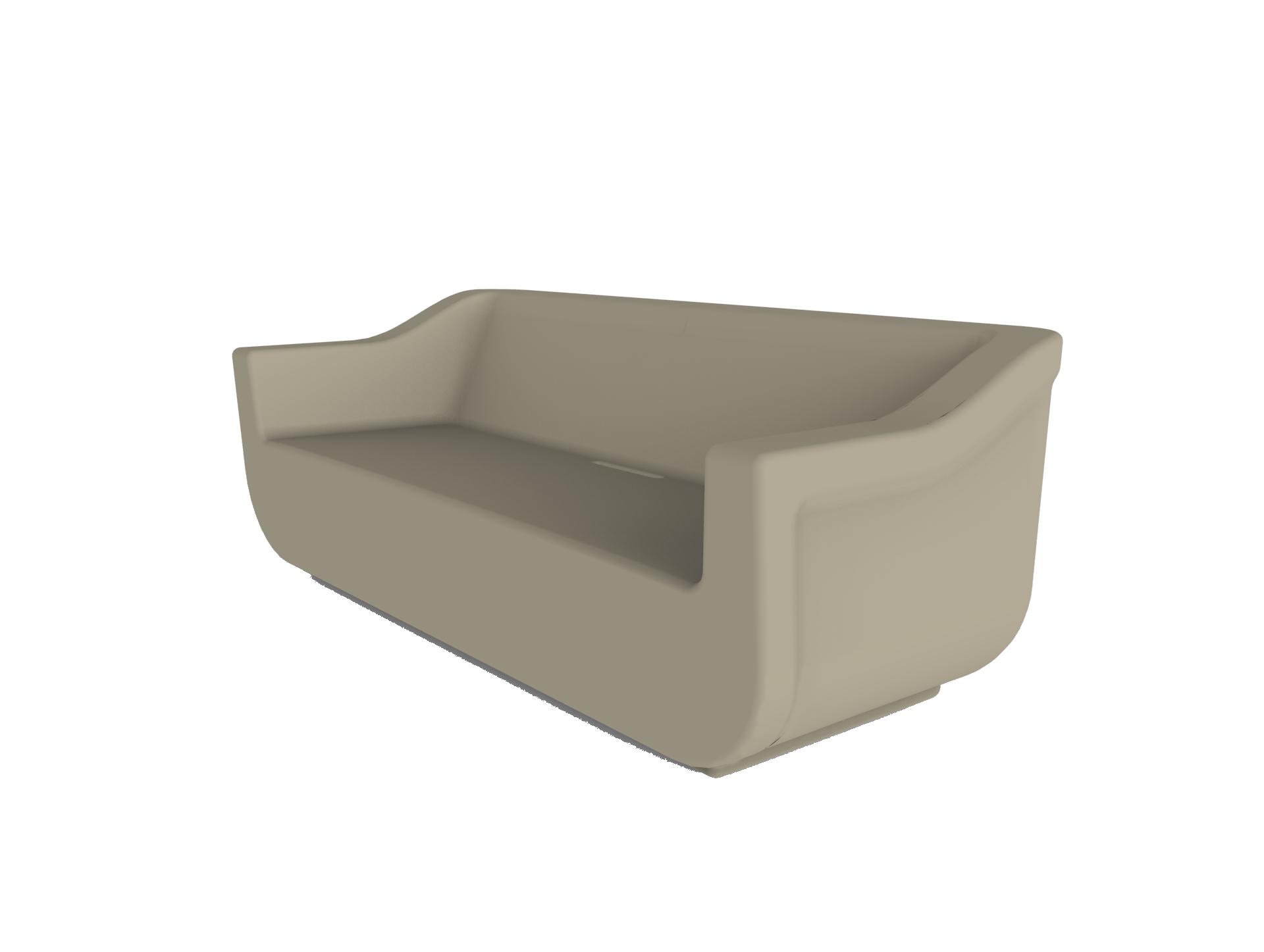 sofa tarasowa z tworzywa wodoodporna CLUB