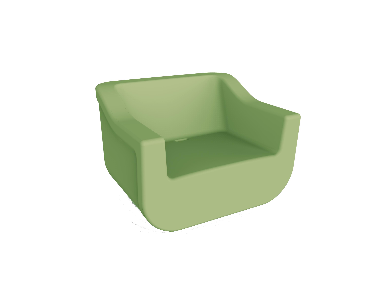 Fotel z tworzywa wodoodporny na taras CLUB