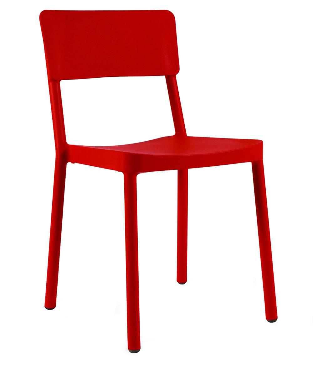 Krzesło Lisboa Resol czerwone RED