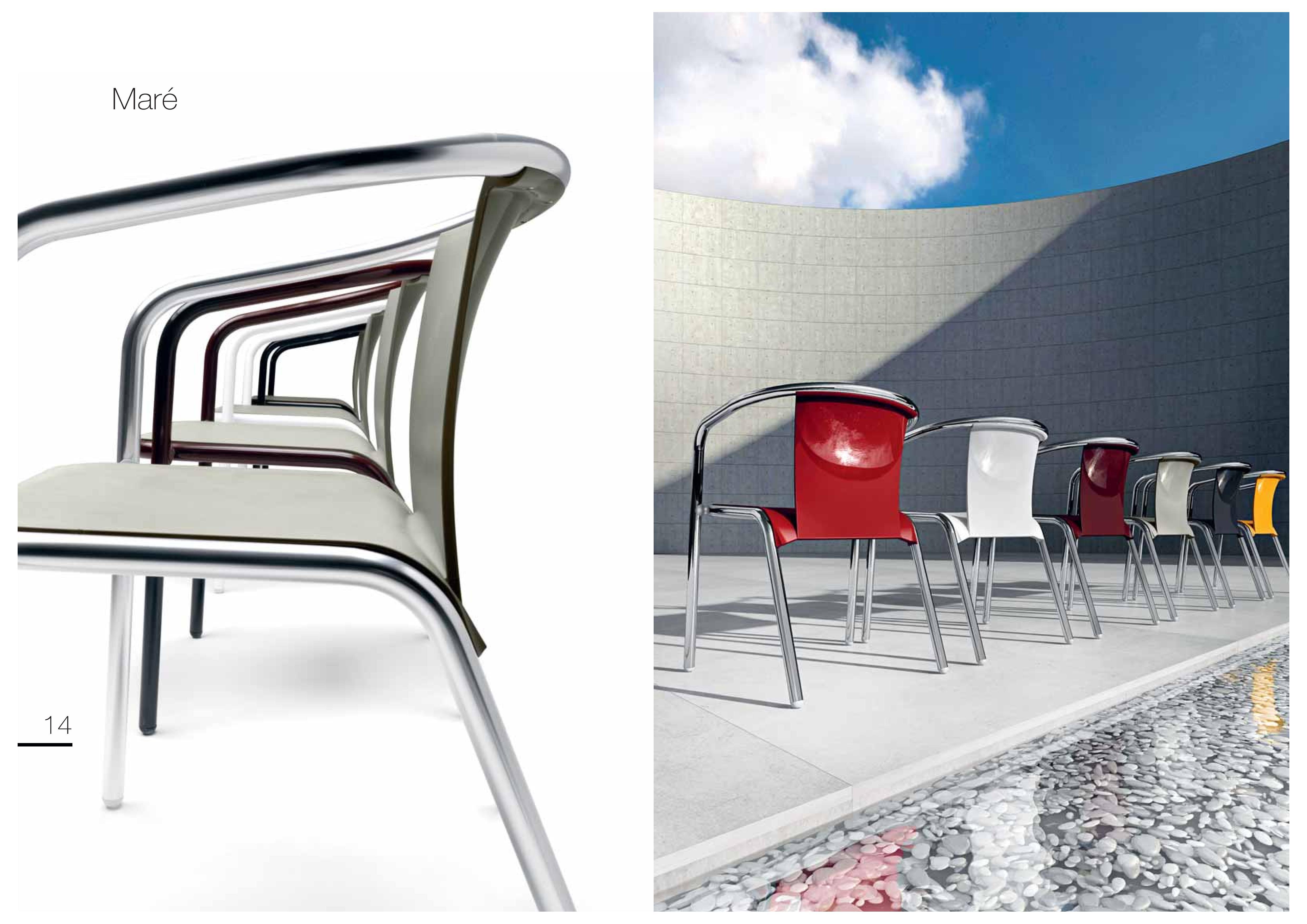 Krzesło do kawiarni Mare Metalmobil
