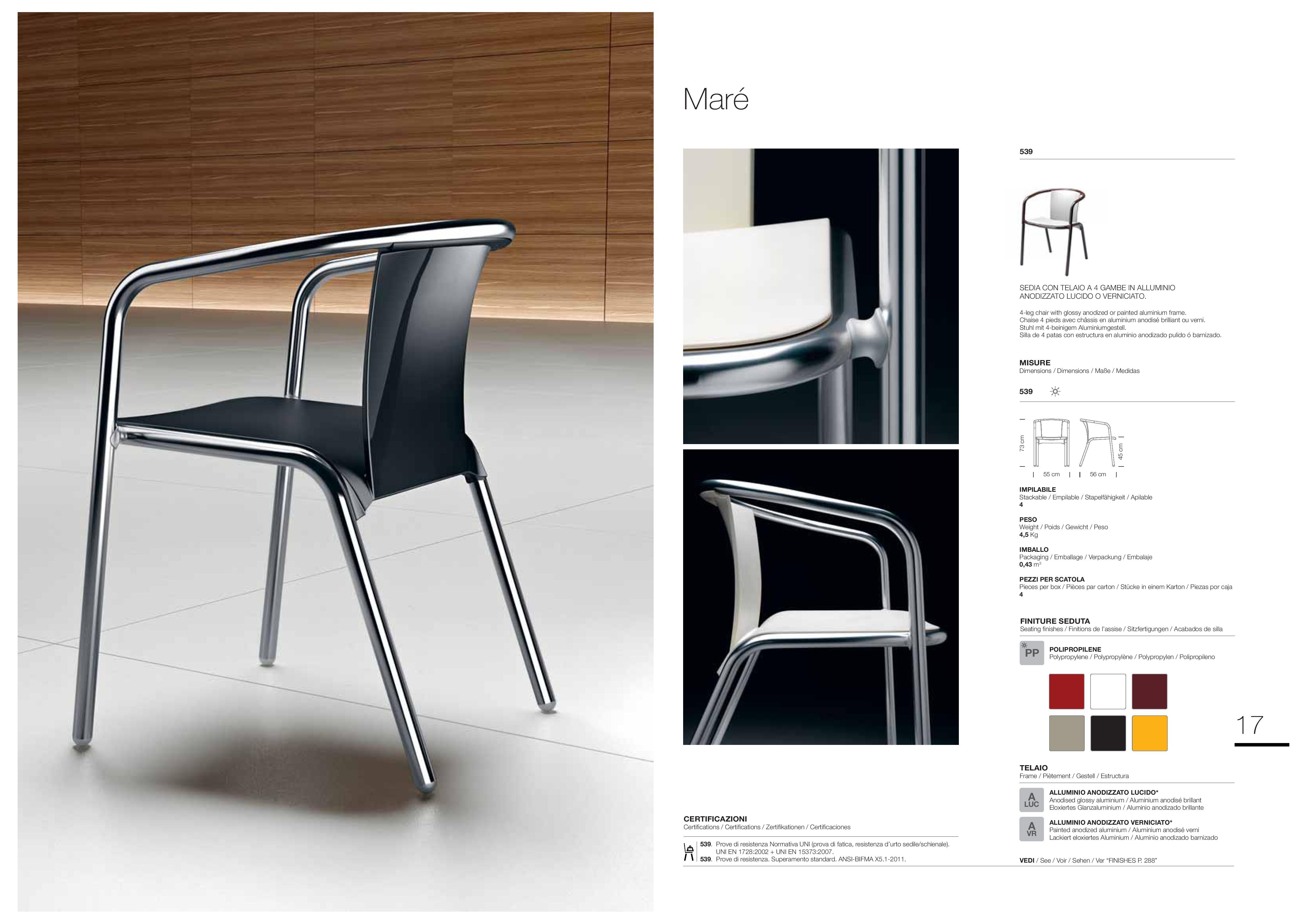 modele krzesła Mare Metalmobil