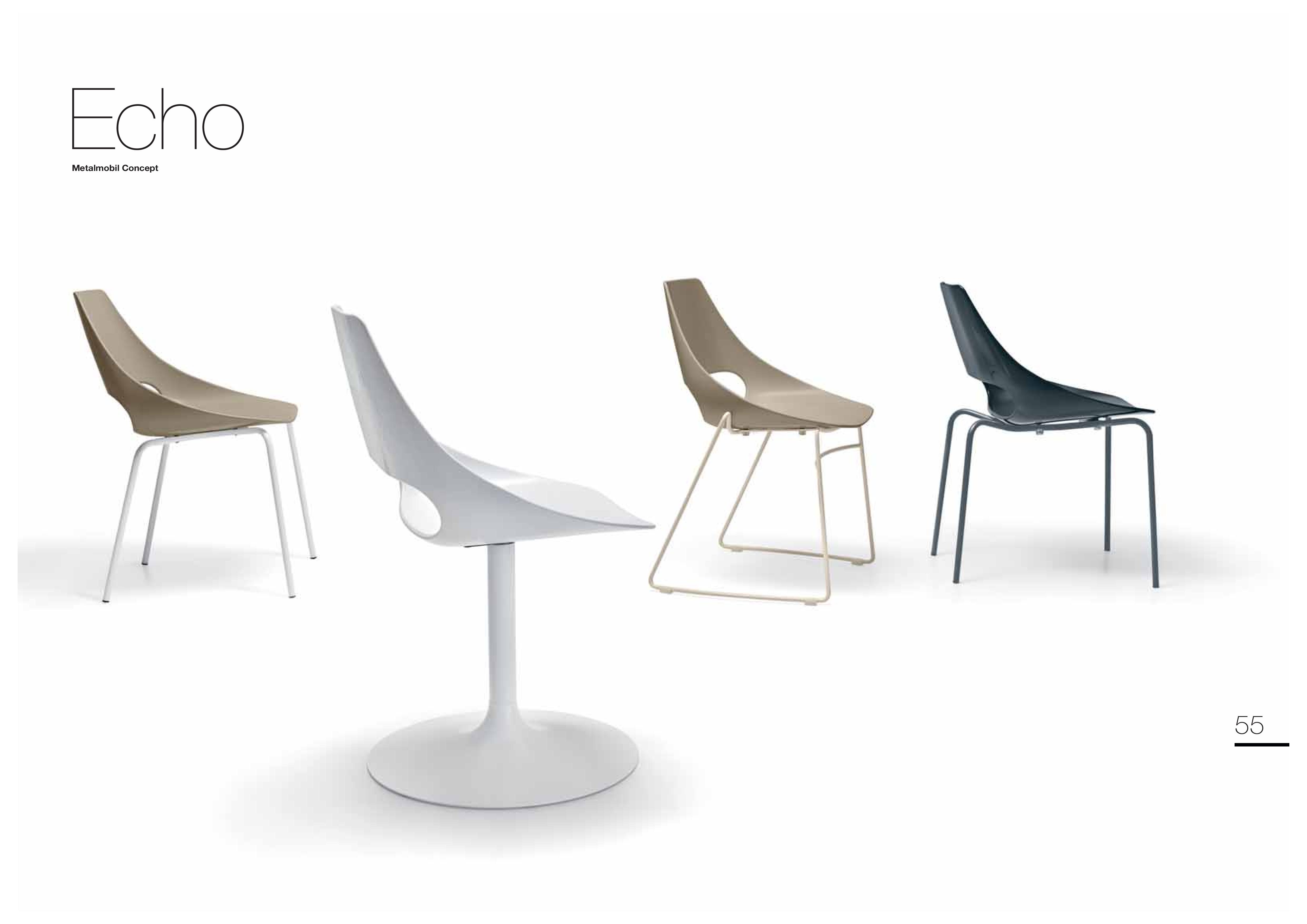 krzesła włoskie Echo Metalmobil