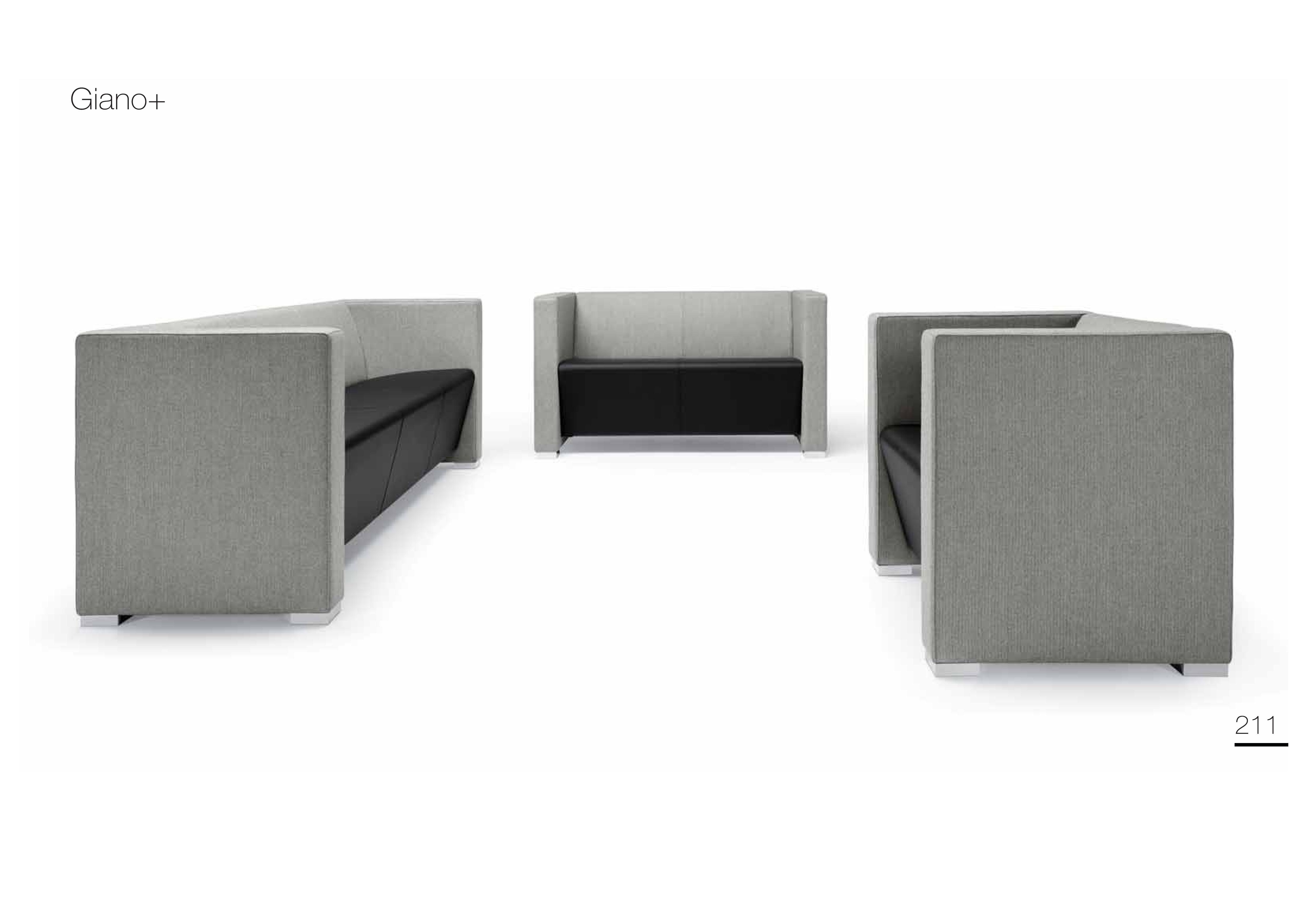 Sofa do miejsc publicznych Giano Metalmobil