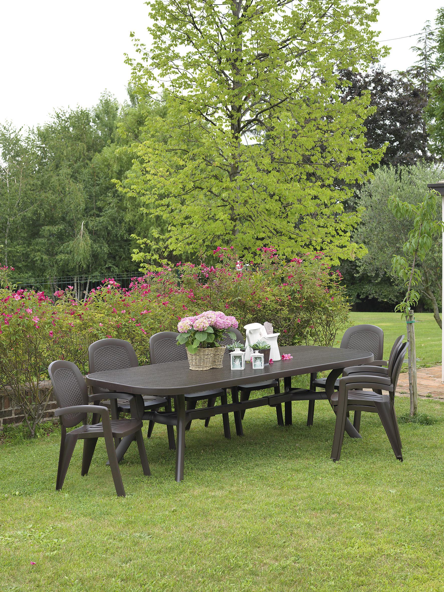 Krzesło plastikowe do ogrodu włoskie CRETA NARDI