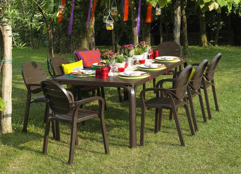 Krzesło Palma Nardi brązowe na taras restauracji
