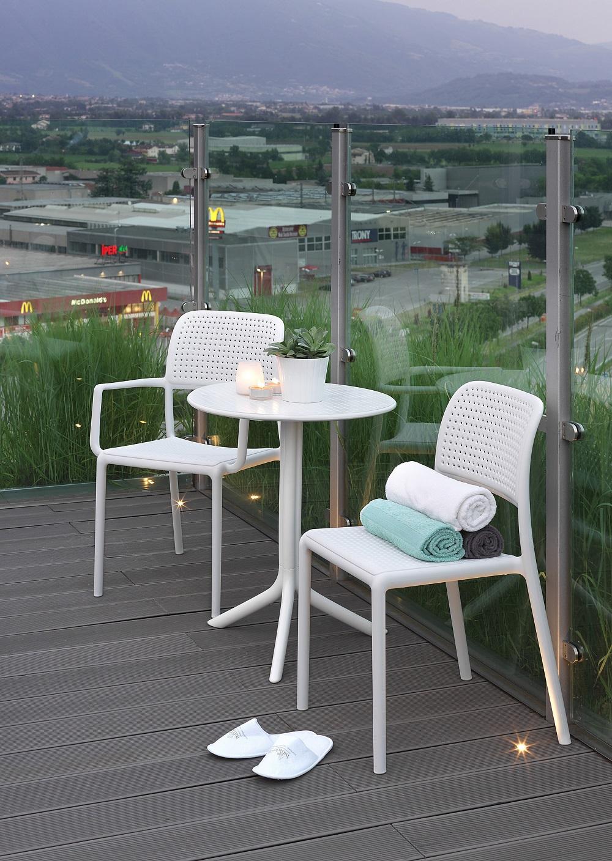 stolik ogrodowy beżowy kawowy