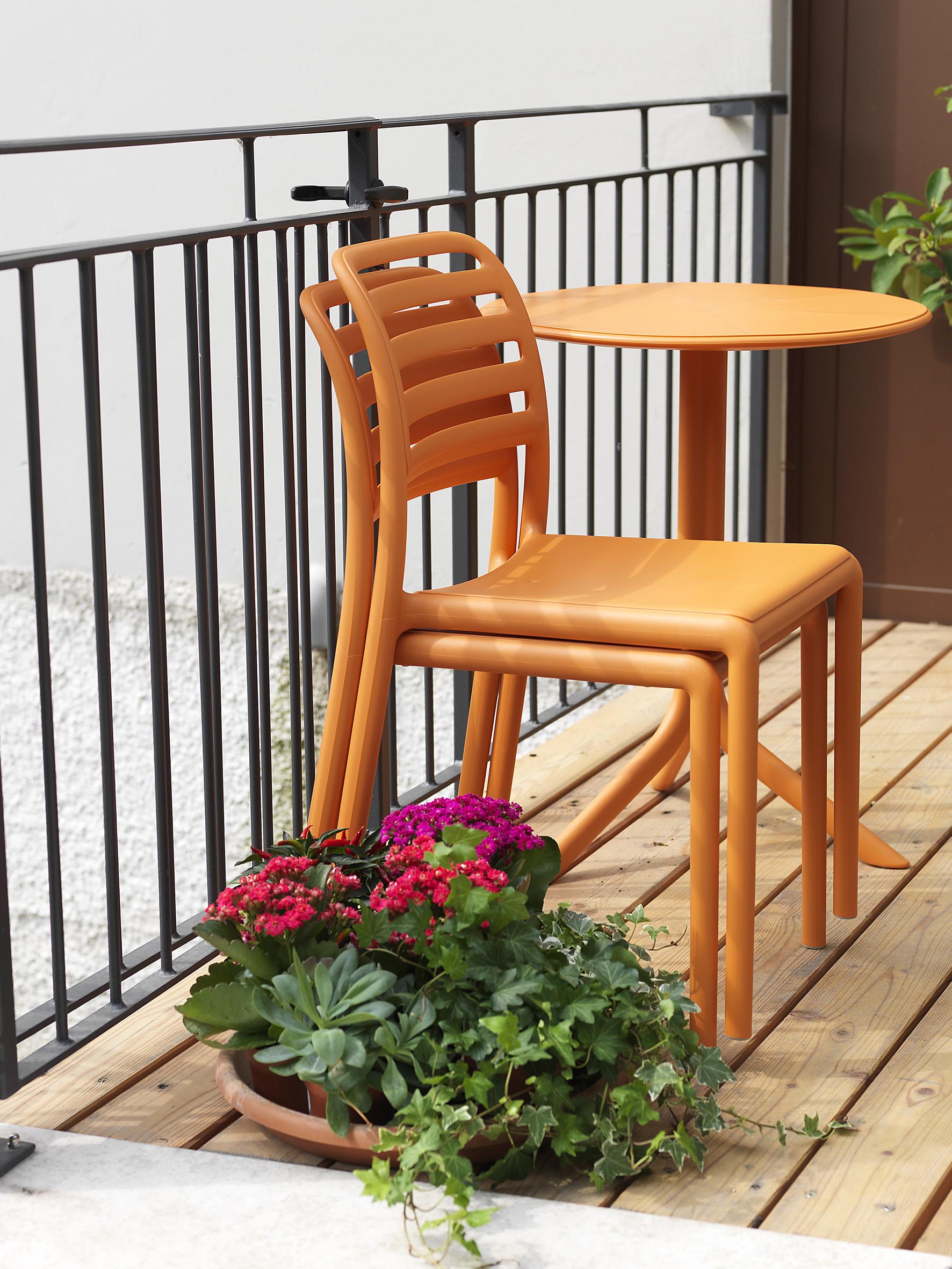 Stolik na balkon spritz nardi pomarańczowy