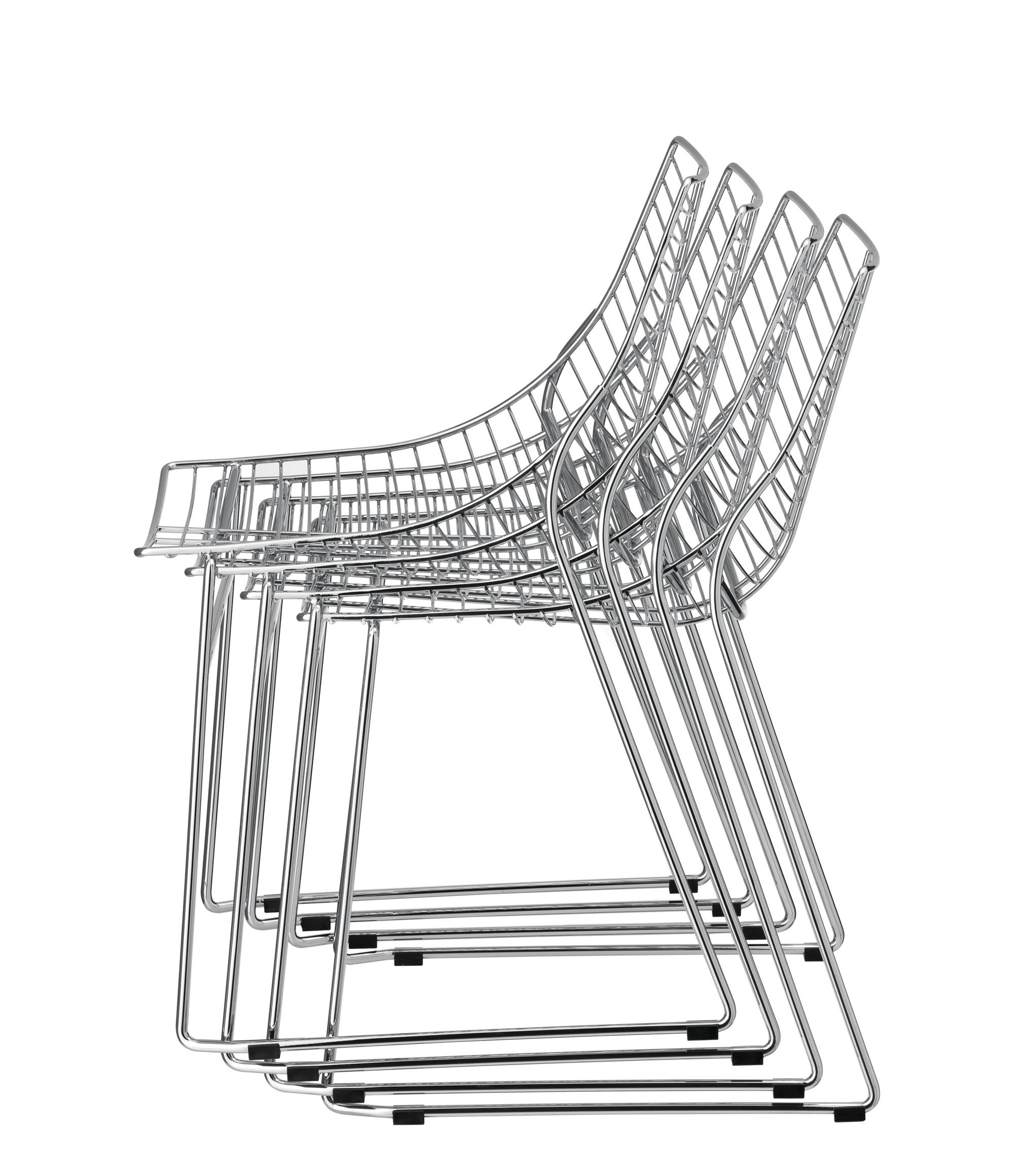 krzesło chromowane net metalmobil