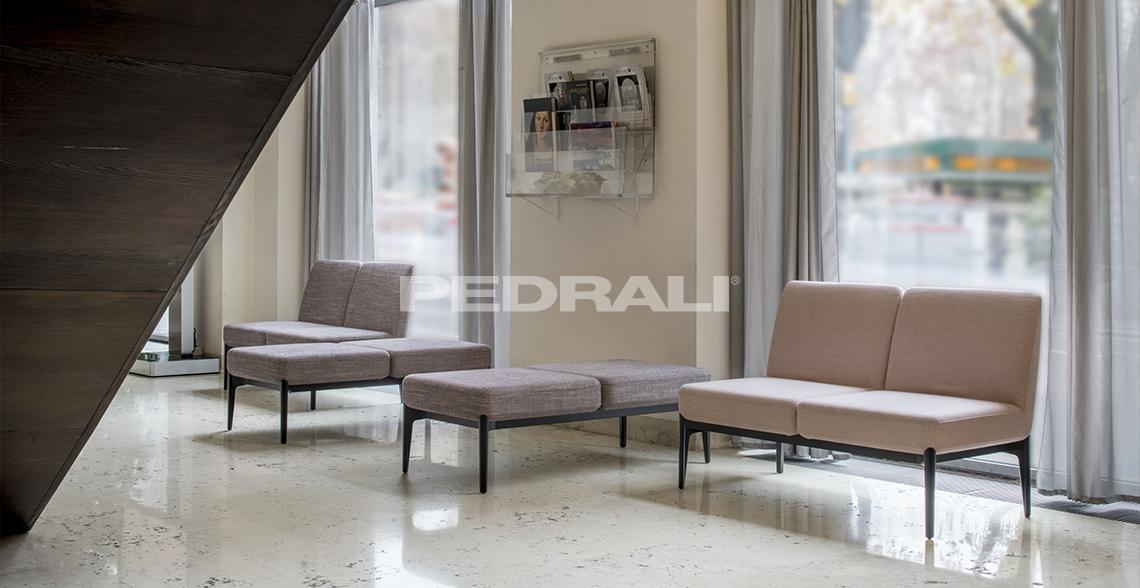 Sofa modułowa do hoteli Social Pedrali