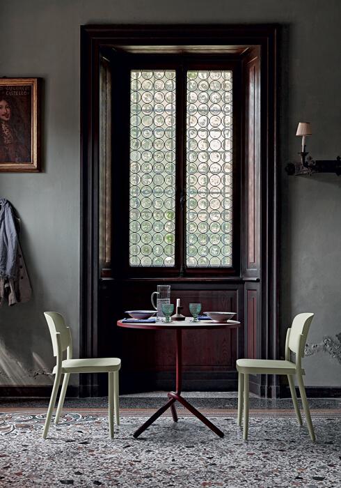 Krzesło do kawiarni z tworzywa PIAZZA COLOS