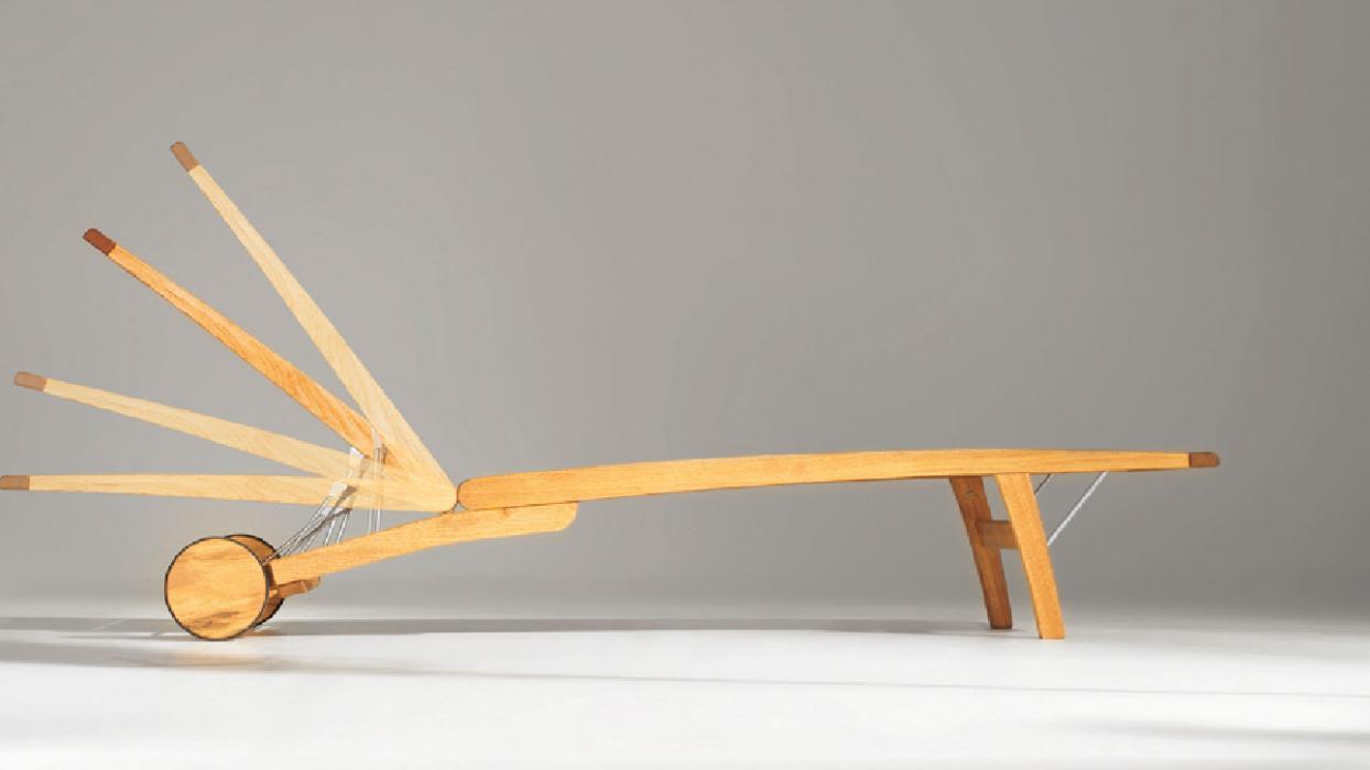 leżak drewniany classic rondo