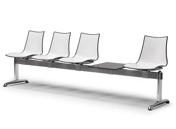 Ławka do poczekalni na cztery osoby Zebra Scab Design nowoczesna