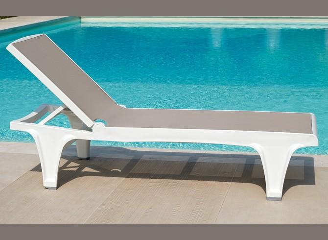 designerski leżak basenowy Tahiti